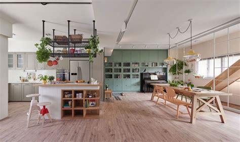 Small Open Floor Plan Kitchen Living Room modern family home design centered around the kids