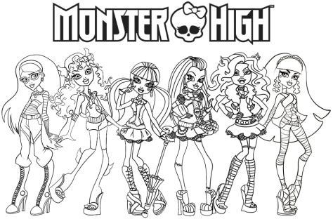 monster high coloring pages for girls printable