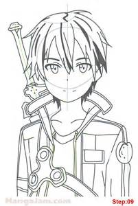Drawing Online How To Draw Kirito From Sword Art Online Mangajam Com