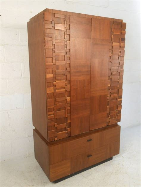 Modern Armoires by Mid Century Modern Brutalist Staccato Armoire By At