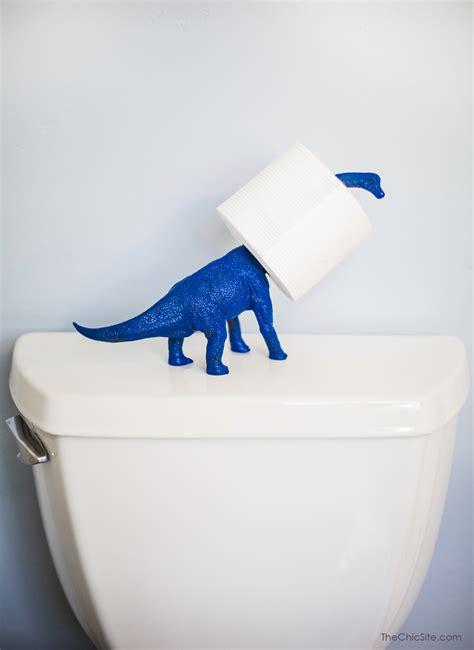 dinosaur toilet paper holder the chic site