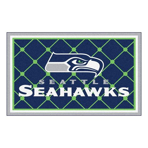 seahawks rug fanmats seattle seahawks 4 ft x 6 ft area rug 6606 the home depot
