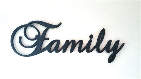 Where To Buy Rustic Home Decor by Large Wooden Family Sign Wall Hanging Family By Letteredwhimsy