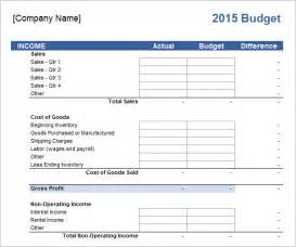 Bussiness Template by Business Budget Template 13 Free Documents In