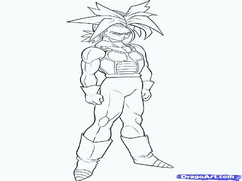 dragon ball z gotenks coloring page coloring home