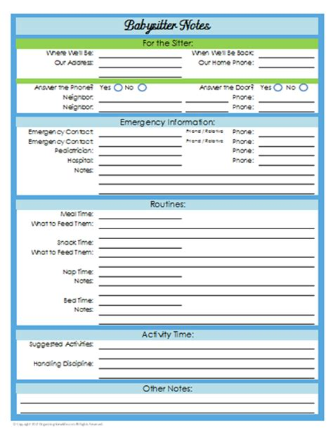 31 days of home management binder printables day 21