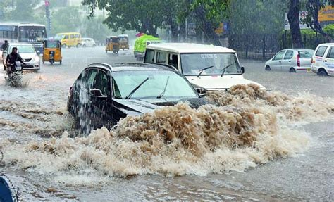 hyderabad heavy rain alert flooding highway railway
