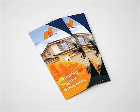 real estate tri fold brochure template on vectogravic design