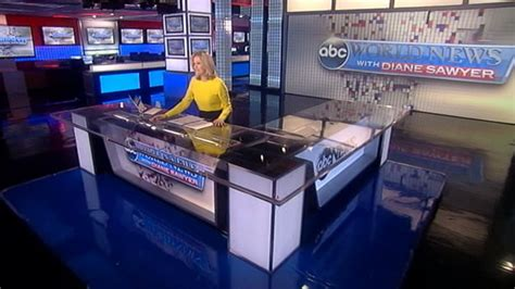 Abc News Desk by Diane Sawyer Leaving World News Anchor Desk Abc News