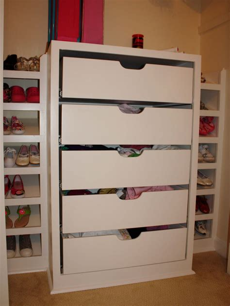 lovely drawers for walk in closet ideas advices for