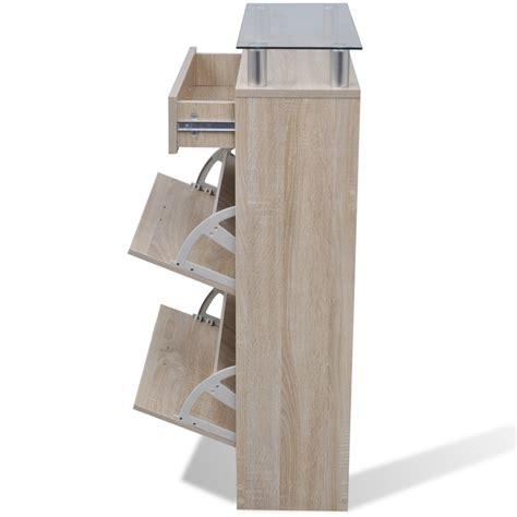scarpiera con cassetto articoli per scarpiera aspetto legno naturale con cassetto