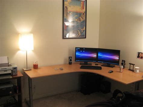 3 foot computer desk minimalist interior design with l shaped corner computer