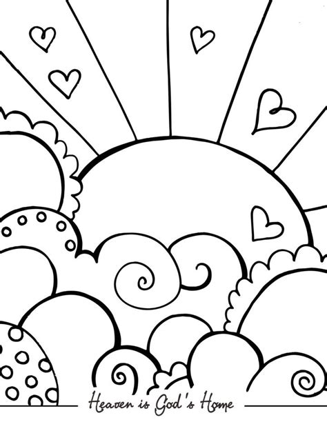 Heaven Coloring Pages free coloring pages of heaven for