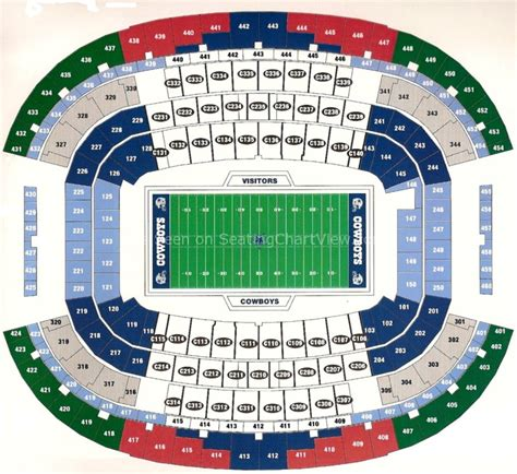 att center seating map at t stadium arlington tx seating chart view