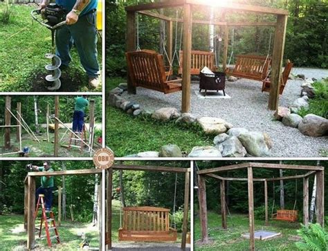fire pit surrounded by swings 26 skvel 253 ch n 225 padov na quot urob si s 225 m quot z 225 hradn 233 hojdačky ps