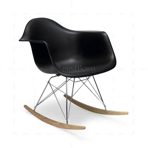 black eames chair with arms eames style dining rocking rar arm chair black