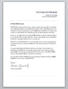 Housing Certification Letter Emotional Support Animal Doctors Letter