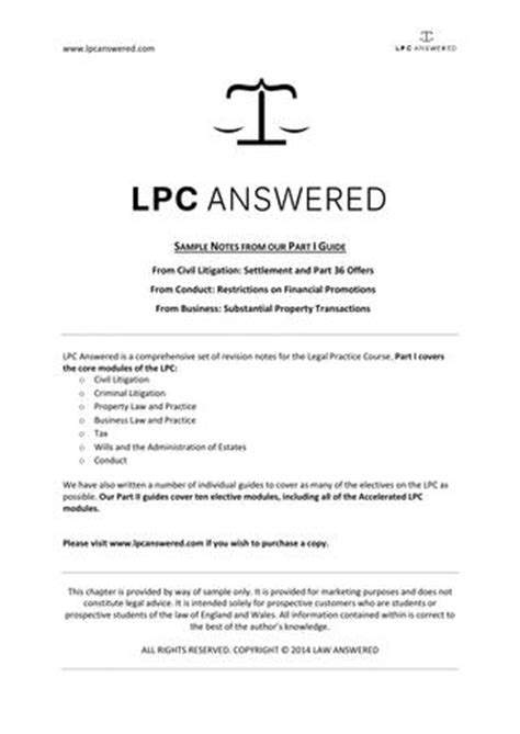 Calderbank Offer Letter Exle Uk Lpc Answered Part I Sle Chapter Blp Litigation Conduct By Gdl Answered Issuu
