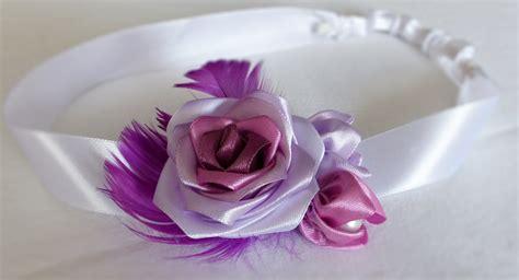 Handmade Satin Ribbon Roses - diy handmade satin ribbon feather headband r 243 綣a