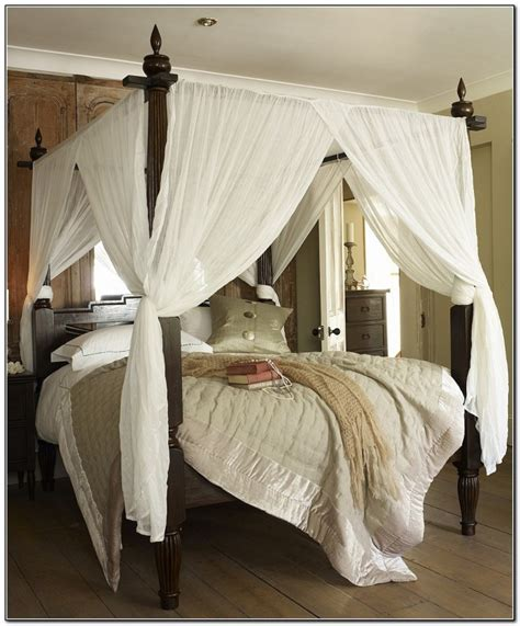 4 Poster Bed Canopy poster bed canopy curtainshome design ideas beds home design