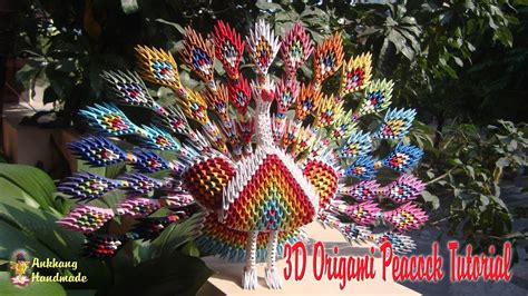 How To Make A 3d Peacock Out Of Paper - how to make 3d origami peacock diy paper peacock