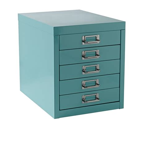 Mini Filing Cabinet New A4 Drawer Mini Filing Unit Blue 5 Storage Cabinet Office Furniture Ebay