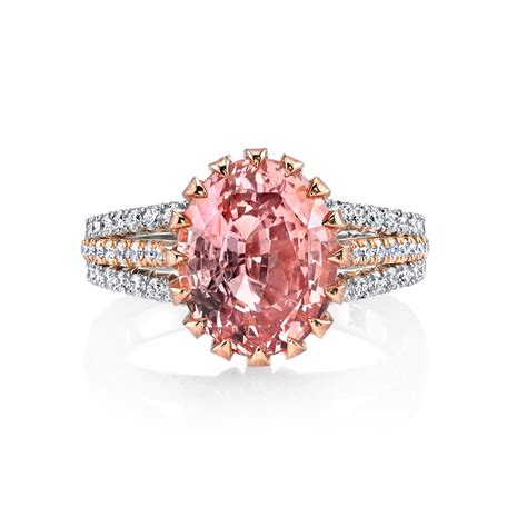 padparadscha sapphire ring 1331 we reveal princess eugenie s padparadscha sapphire ring