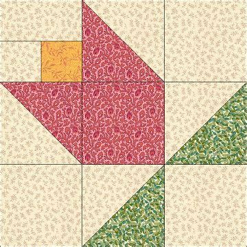 Tulip Quilt Pattern Block by Tulip Quilt Block Costura Patchwork