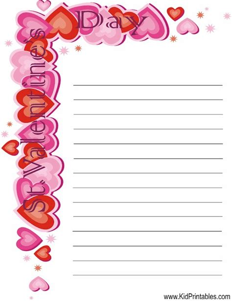 printable valentine stationery 6 best images of valentine s day stationery printable