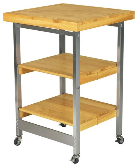 folding kitchen island folding kitchen island stainless steel and wood natural