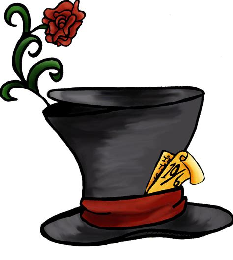 alice in wonderland mad hatter hat clipart