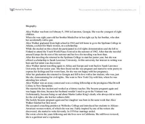 Walker Essays by Walker Biography A Level Marked By Teachers