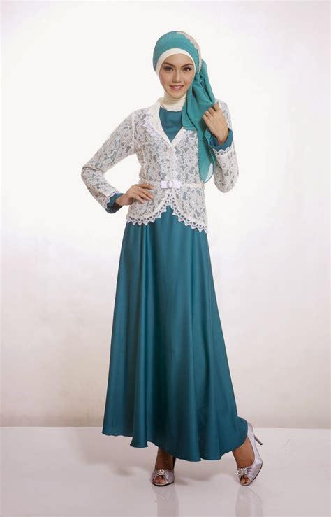 Busana Muslim Terbaru 20 contoh model baju muslim untuk pesta terbaik 2015