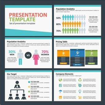 Demographic Vectors Photos And Psd Files Free Download Population Ppt Templates Free