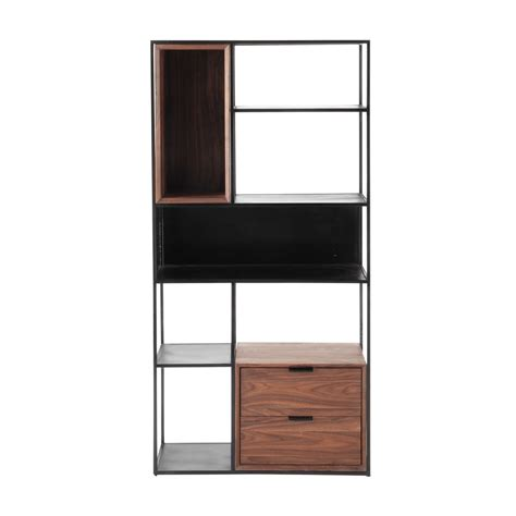Black Metal Shelf Unit by Metal Industrial Shelf Unit Black W 90cm Berkley