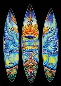 Surf Wall Murals custom painted surfboard fine art by drew brophy