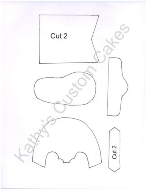 Boot Template by Baby Cowboy Boot Template Cakecentral