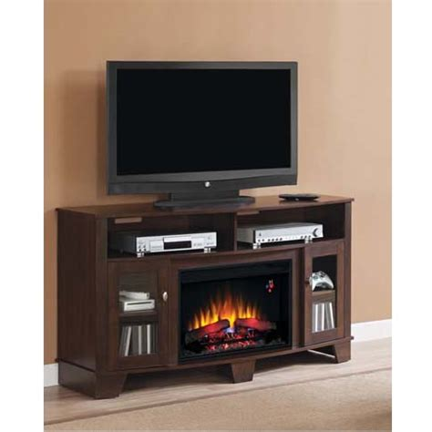 62 electric fireplace classic la salle 62 inch tv stand with electric fireplace insert cherry 26mm4995 nc72