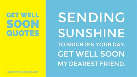 Get Well Soon Quotes To by Get Well Quotes Messages And Wishes Greeting Card Poet