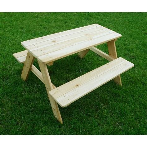 merry products kids wooden picnic table 588458 patio