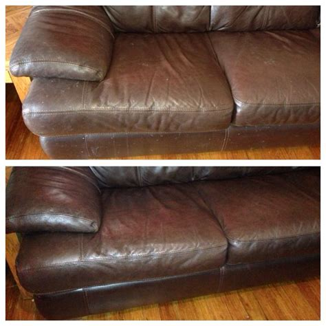 clean a leather couch before and after cleaning leather couches works amazing