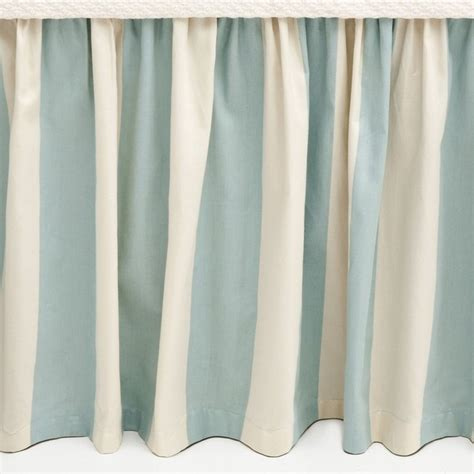 striped bed skirt madeline stripe bed skirt full contemporary bedskirts by pine cone hill