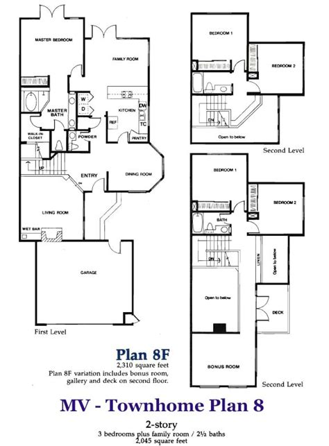 town home plans 3 story townhome plans