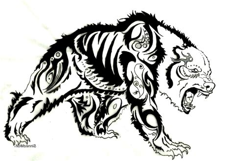 bear tattoo design tribal designs cool tattoos bonbaden