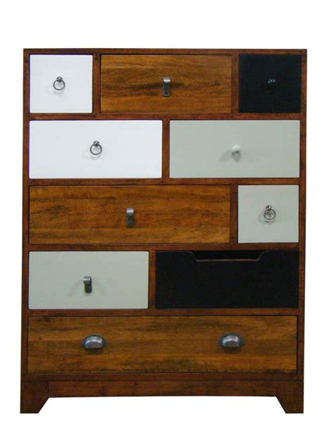 mismatched vintage set of drawers by made with