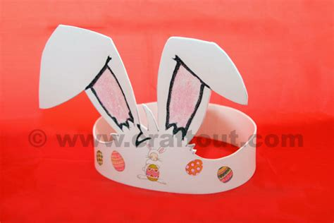 easter bunny hat template easter bunny ears foam headband craft out