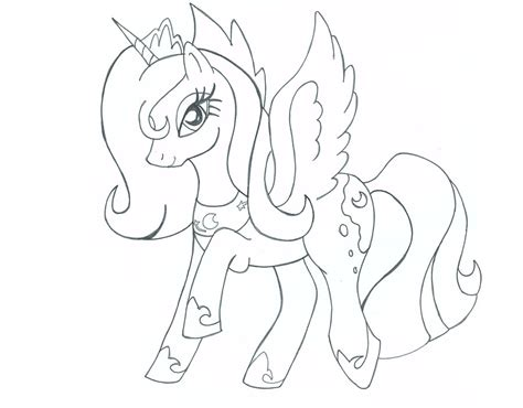 my little pony coloring pages princess luna and celestia how to draw princess luna