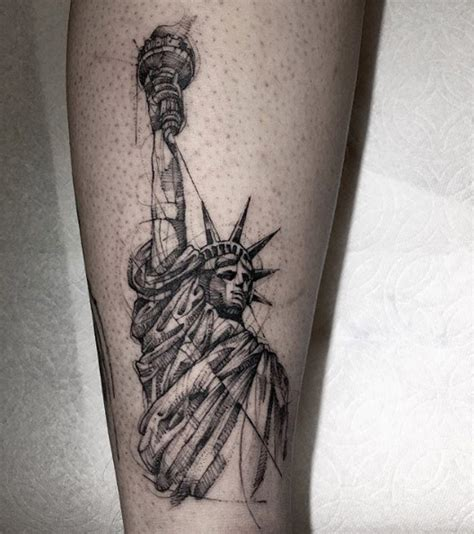 statue of liberty tattoo designs these 25 statue of liberty tattoos rock tattooblend