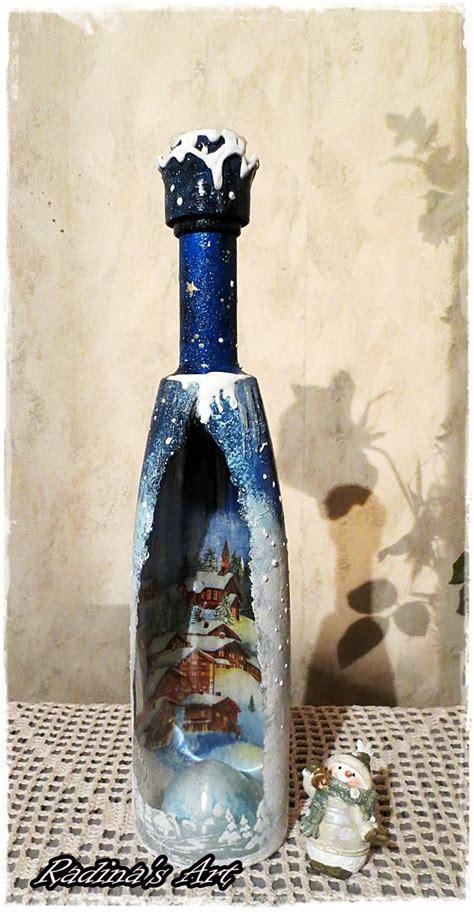 decorated bottle for christmas my art pinterest