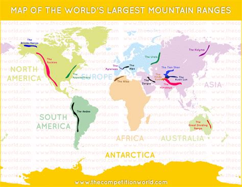 world geography world s largest mountain ranges map